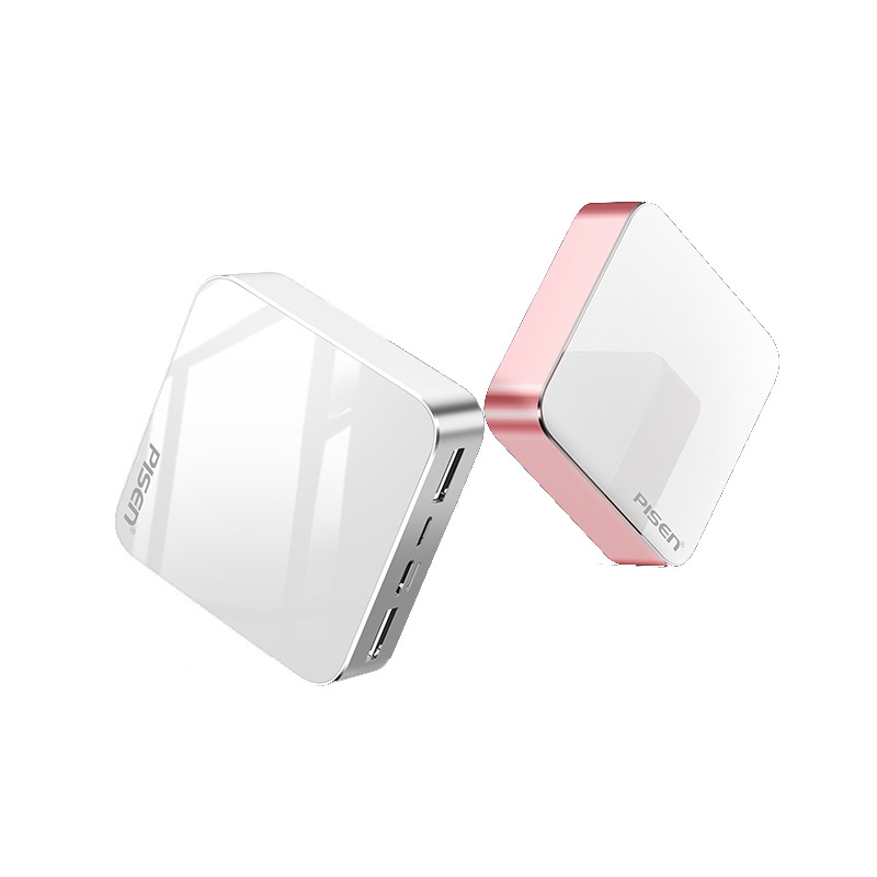 Mini Mirror 10000mAh  (2xUSB FlashShip 2.0, Type-C/ Micro/ Lightning, LED)