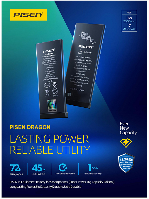 Pin iPhone - PISEN Dragon i6s 2330mAh
